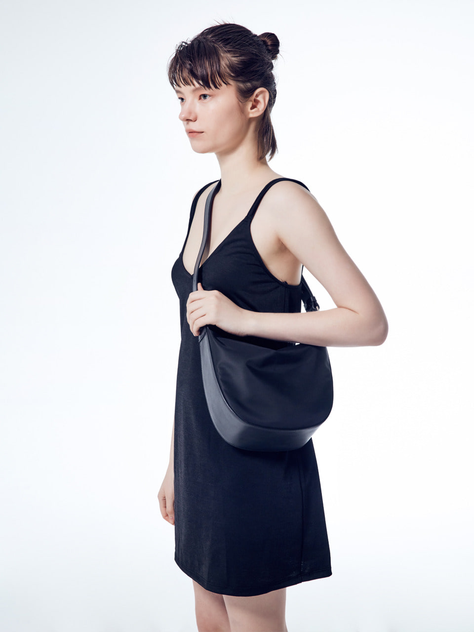 [20SUMMER] MOSS HALF NYLON_black