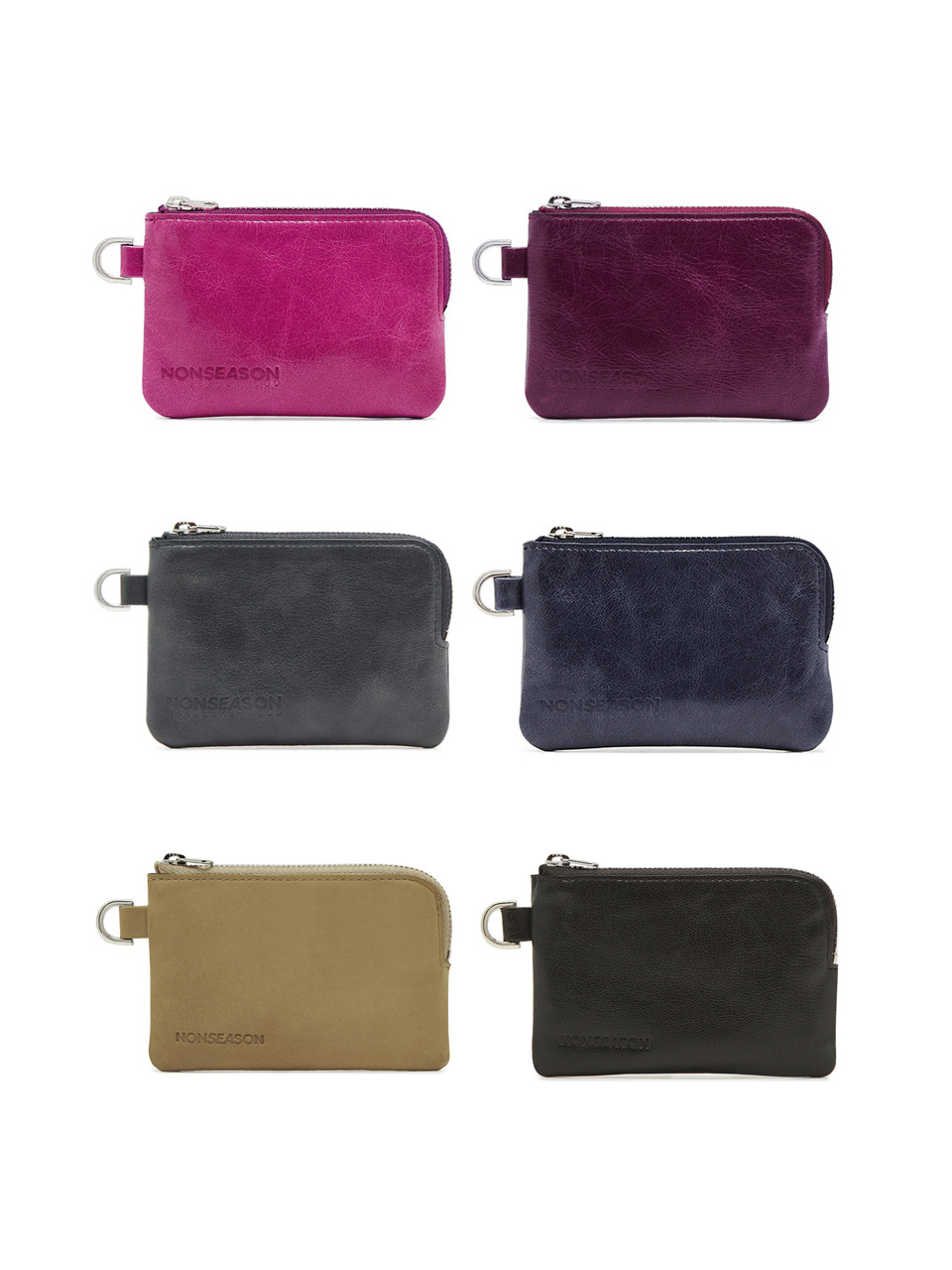 ZIPPER CARD WALLET_6colors