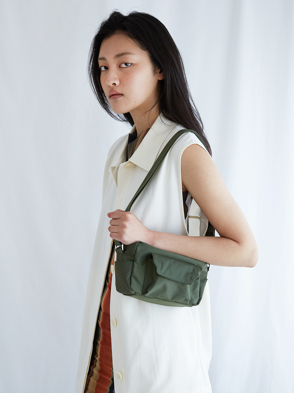 BUTTER MEDIUM NYLON_khaki