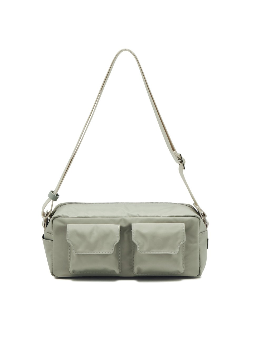 BUTTER TWO-POCKET NYLON_mint gray