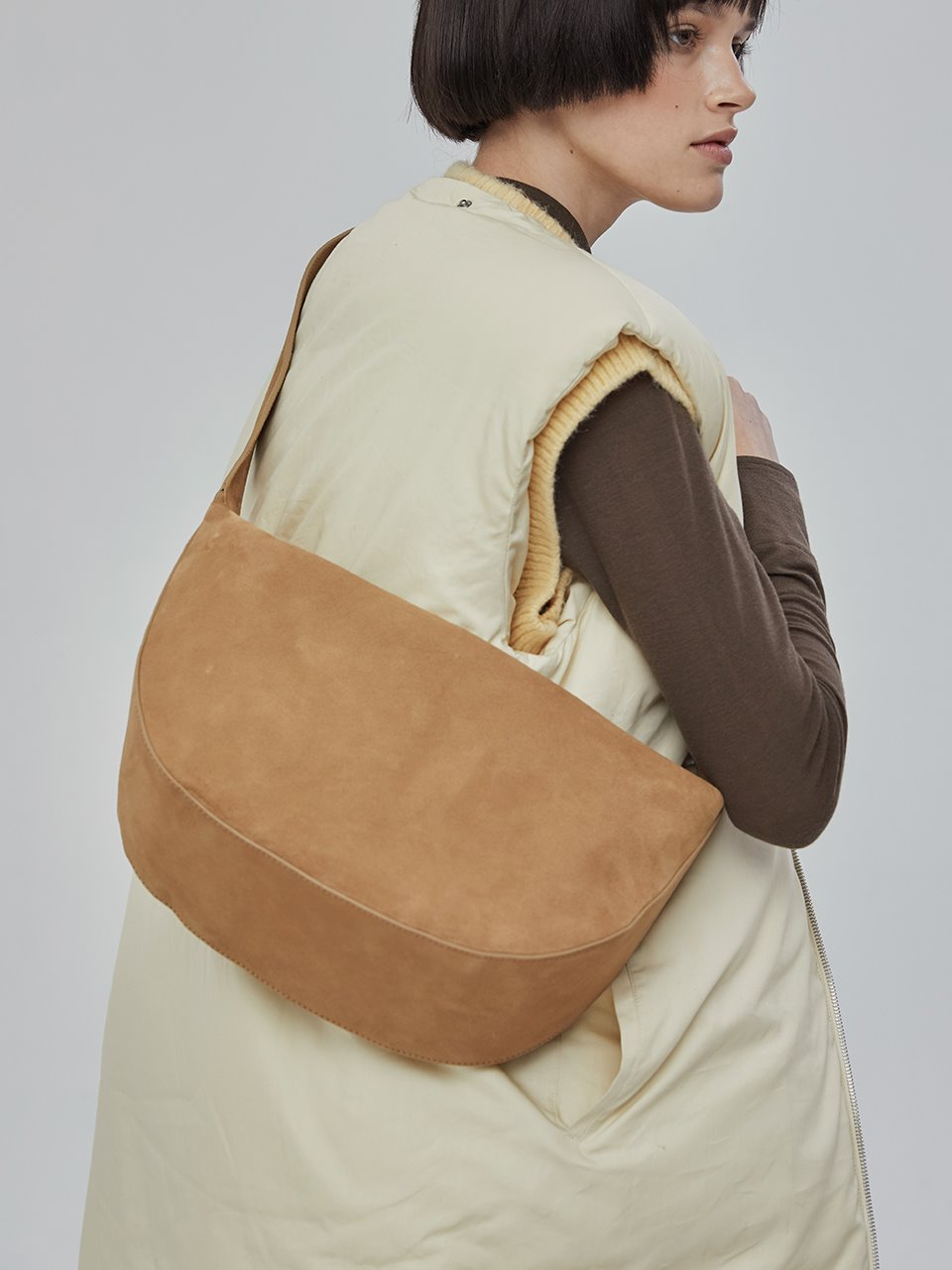 [11/30예약배송][20WINTER] MOSS HALF LEATHER_camel suede