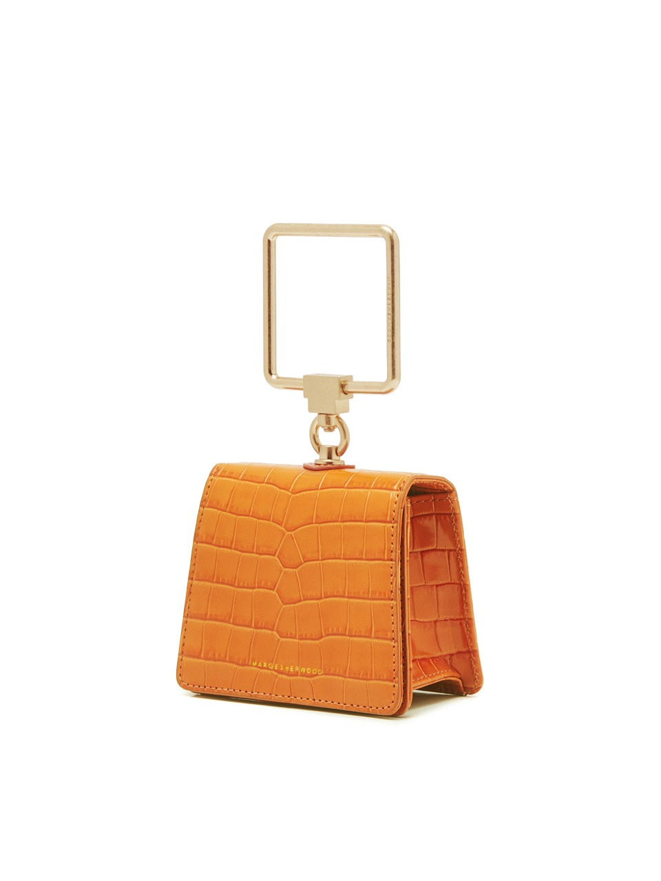 [21SS] PUMP HANDLE MINI_orange croc matisse