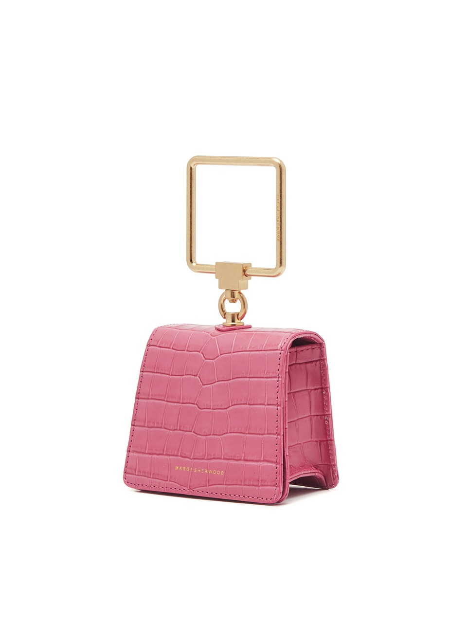 [21SS] PUMP HANDLE MINI_pink croc matisse