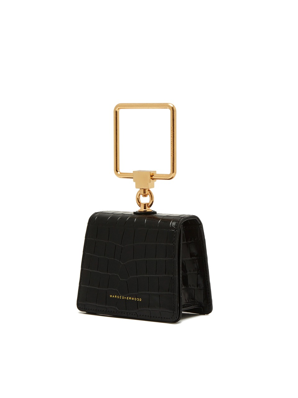 [21SS] PUMP HANDLE MINI_black croc matisse