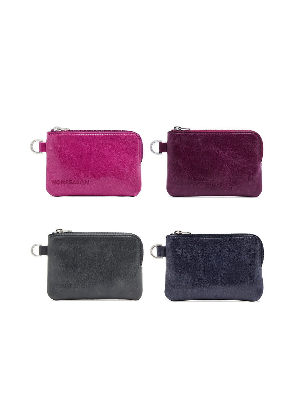ZIPPER CARD WALLET_4colors